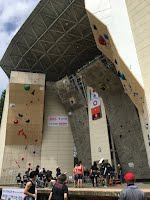 会場となった富山県南砺市の桜ヶ池クライミングセンター